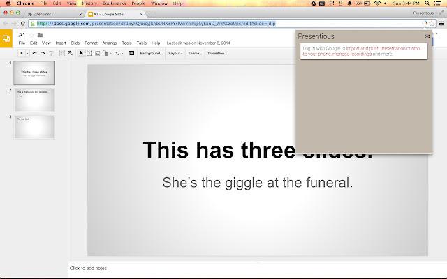presentious for google slides