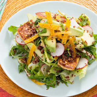 Mexican Chopped Salad with Queso de Freir, Chayote Squash & Citrus Vinaigrette.
