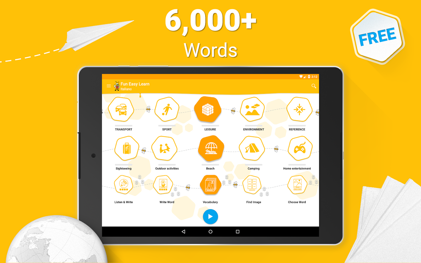 Learn Italian 6,000 Words- screenshot