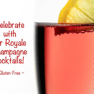 Kir Royale Cocktails.