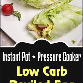 Pressure Cooker Low Carb Deviled Egg Salad Roll Ups.
