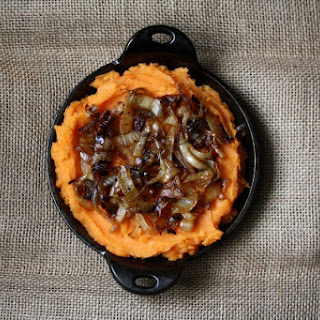 Spiced Semi-Sweet Potato Mash with Caramelized Onions