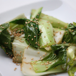 Sauteed Baby Bok Choy with Sesame Seeds