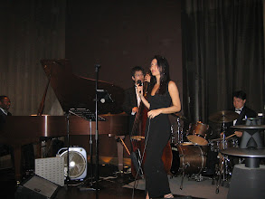 Photo: Performing with the band
