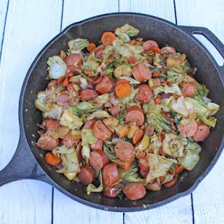 Kielbasa Cabbage Dinner Skillet.