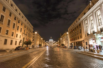 Photo: The road to St. Peter's Square, the Vatican