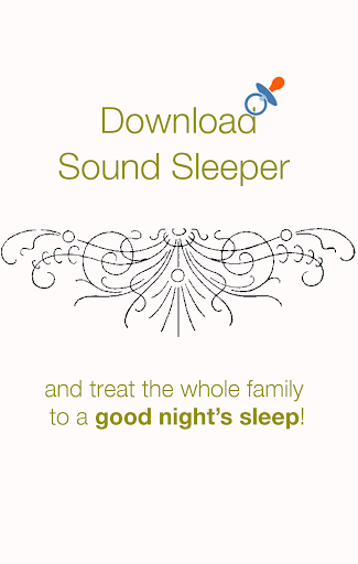 Sound Sleeper white noise baby app (apk) free download for Android/PC/Windows screenshot