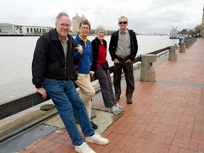 Photo: Fred, Elinor, Maxine, Randy. Along the Savannah River waterfront.