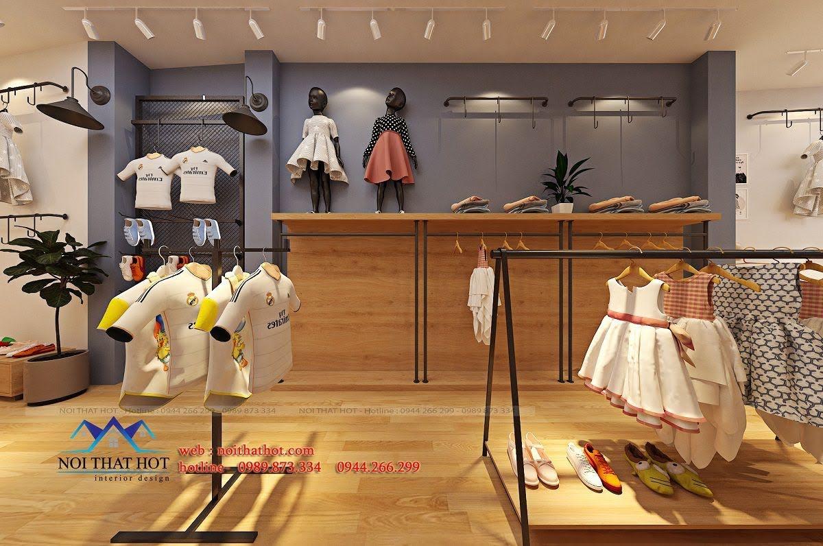 thiết kế shop thời trang trẻ em 24.baby 5