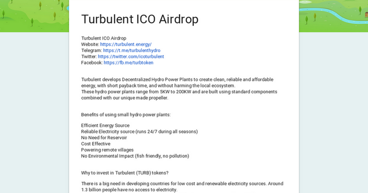 Turbulent ICO Airdrop