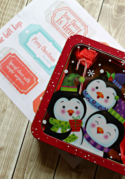 Free printable gift tags to pair with your cookies for when you #SpreadCheer