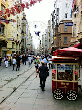 Photo: İstiklâl Caddesi (Independence Avenue), a famous pedestrian street full of history, shops, restaurants, entertainment, in the modern part of Istanbul.