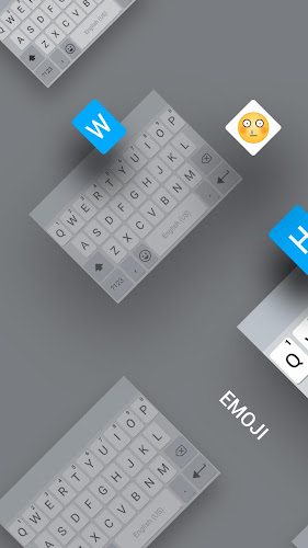 White&Emoji Pro Keyboard Theme - Pearl White Android App Screenshot