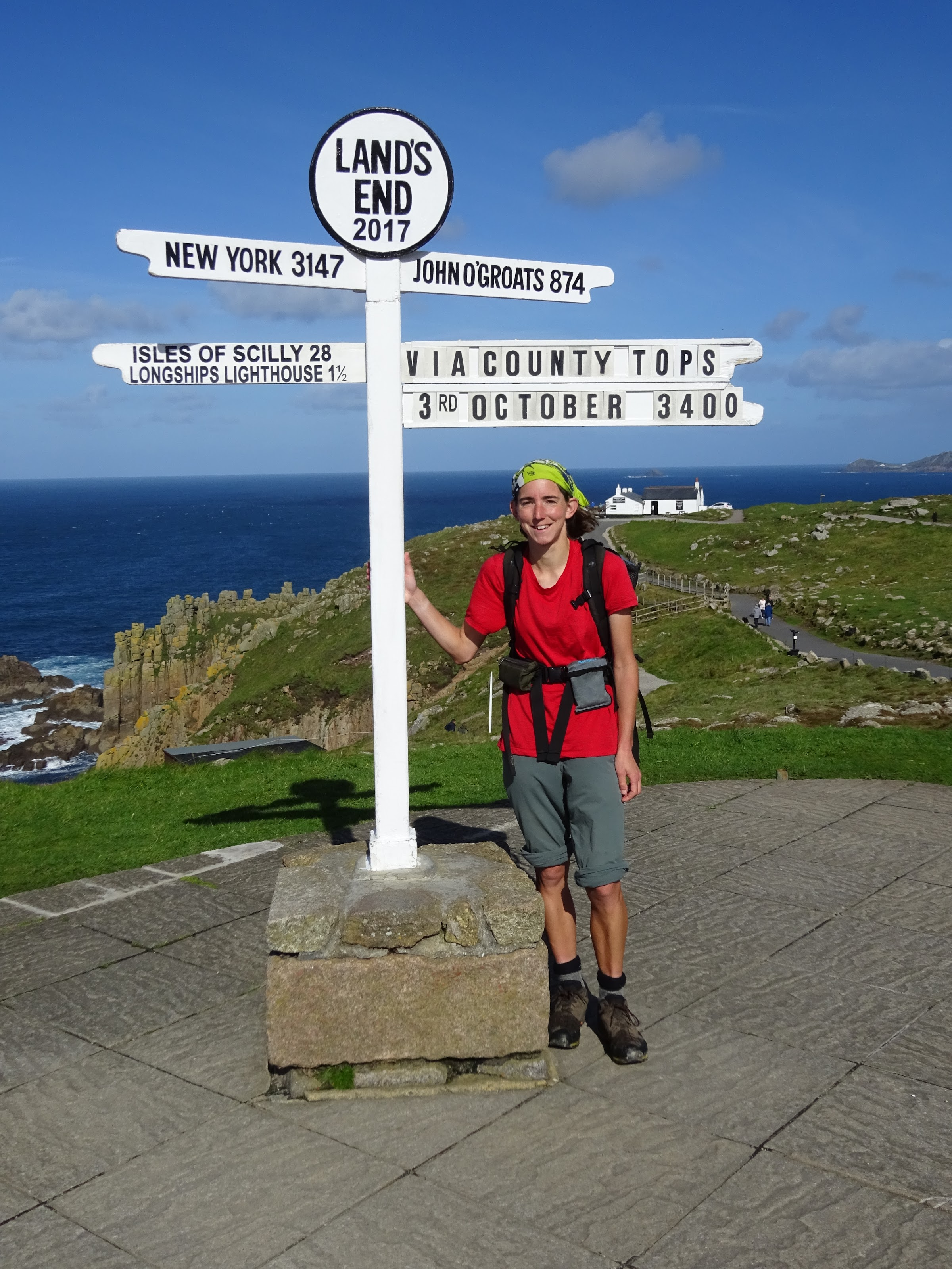Completing my walk at Land's End