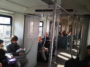 Photo: Commuting Home After School on the Berlin S-Bahn