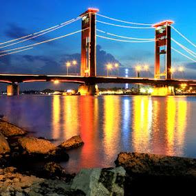 ampera bridge by Fransiskus Adi Candra - City,  Street & Park  Vistas ( lanskape )