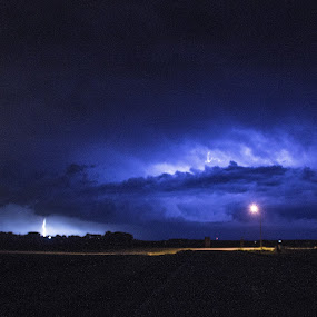 1Up1Down by Scott Valenzuela - Novices Only Abstract ( clouds, lightning, night photography, storms, nightscape )