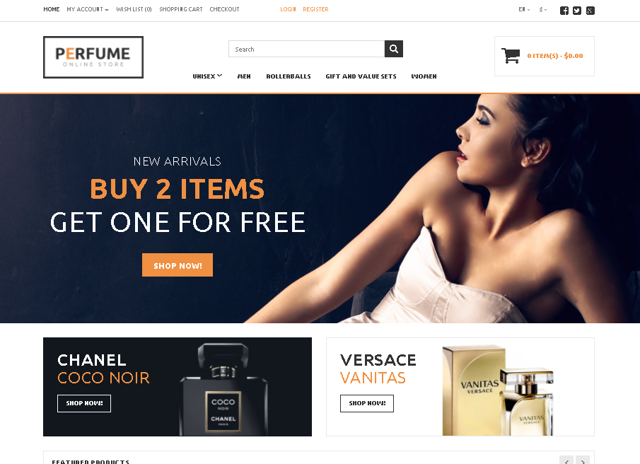 Perfume Store OpenCart Template