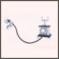 レトロな電話機(銀)