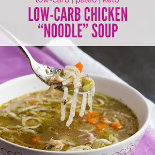 """Low-Carb Chicken """"Noodle"""" Soup"""