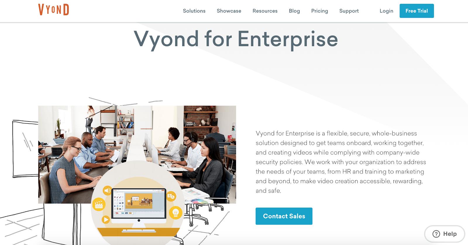 Vyond B2B tech personalization example