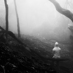 LIGHT by Kevin Navis - Black & White Landscapes ( hills, dark, personal, black and white, silence, solitude )