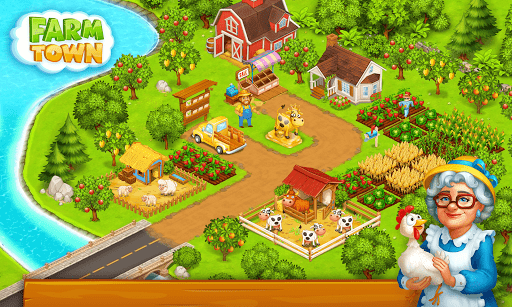 Farm Town: Happy village near small city and town  screenshots 13