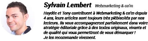 Témoignage Sylvain Lembert