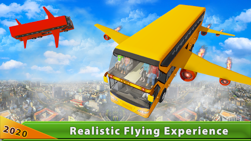 Flying Bus Driving simulator 2019: Free Bus Games 2.6 screenshots hack proof 1