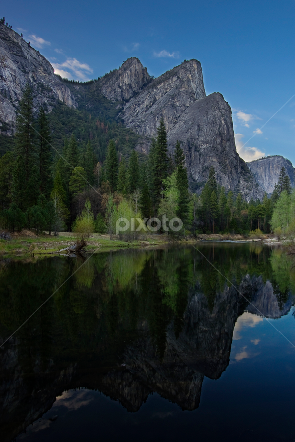 3 Brothers and twins by Olga Charny - Landscapes Mountains & Hills ( yosemite, three brothers )