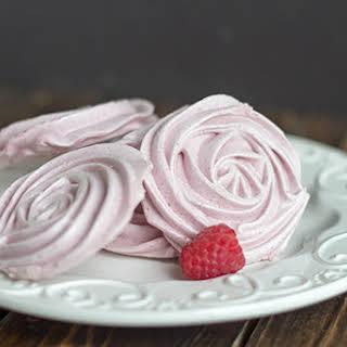 Raspberry Meringue Cookies.