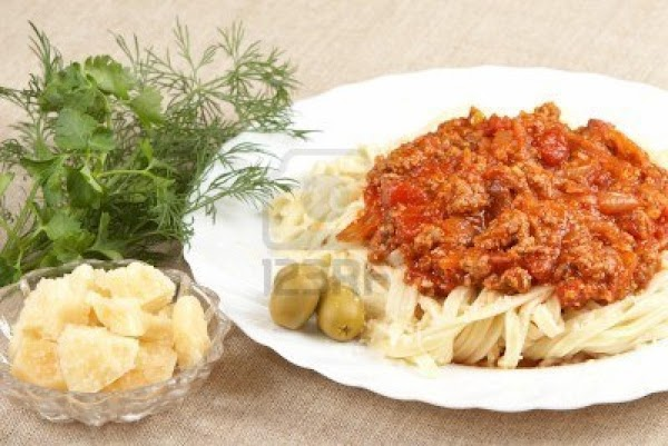 Blondie's Meat Sauce With Pasta Recipe