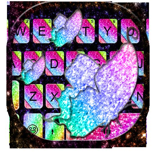Sparkle Rainbow Keyboard Theme Icon