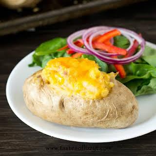 Tuna Cheddar Stuffed Potatoes.