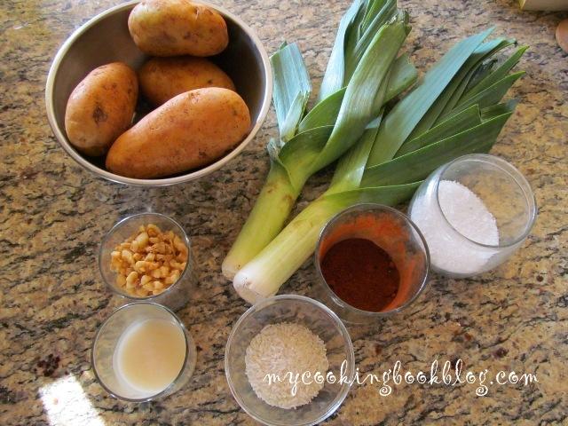 Гювеч с картофи и праз лук