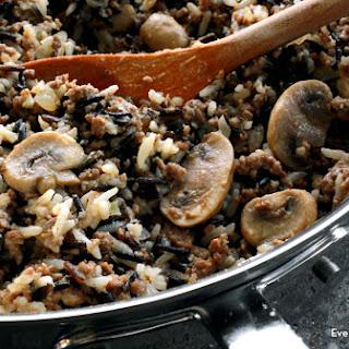 Hamburger Wild Rice Casserole.