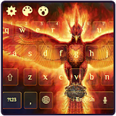 Fire Phoenix Bird Dark Theme