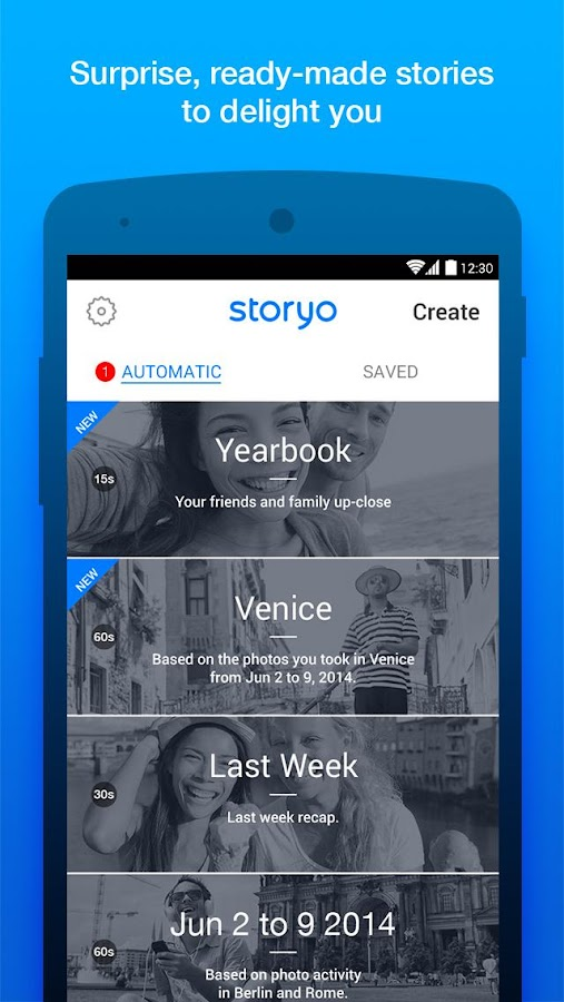 Storyo - Smart Video Memories- screenshot