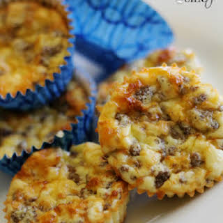 Sausage Egg and Cheese Breakfast Muffins.