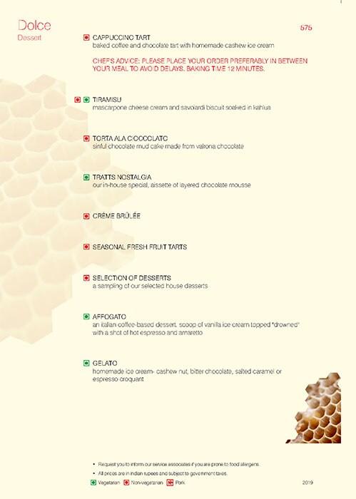 Trattoria, Vivanta By Taj President menu 5