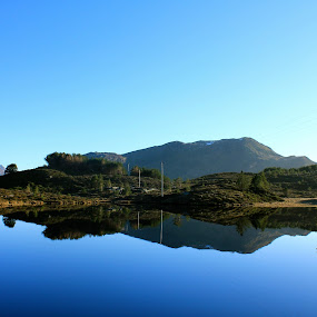Perfect! by Cecilie Hansteensen - Landscapes Waterscapes ( water, reflection, mountain, beautiful, quiet, spring, måløy, sun, norway,  )