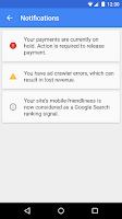 Screenshot of Google AdSense