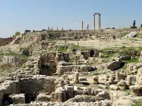 Photo: Citadel and ruins of the Temple of Hercules