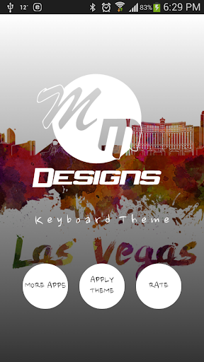 Las Vegas GO Keyboard theme