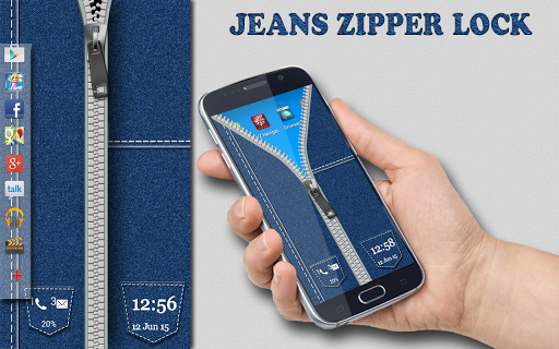 Jeans Zipper Screen Lock