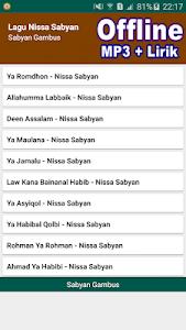 Download Lagu Nissa Sabyan + Lirik Offline Mp3 APK latest