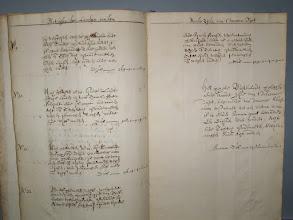 Photo: No.19 bij verscheijden meijers gebruijckt ende in den Caerte geteeckent met no.19, is groot bevonden twee hondert, negen en zestich pondemaeten,  No. 20 Noch gemeten no.20 sijnde Landtschaps Landen bij Jacob Isonis (?) gebruijckt...  No. 21 .... Tiaerdt Riencx en Jelger Cornelis cum sociis gebruijckt...  No. 22 .... Anne Pijters, Jan Jansen, Lijuwe Sijmens, ende Sijmen Fransen tegenwoordich gebruijckt...  het geheele Buijtenlandt geleghen aende Noorder zijde van t Doccomer Diept, beginnende van Doccomer Sluijtboom oostwaert tot aen Watma wiel is in eender somma groot bevonden een duijsent, vier hondert, acht en tachtich pondematen, ses penninghen ende acht ...  Somma dus -1488-0-6-8-0