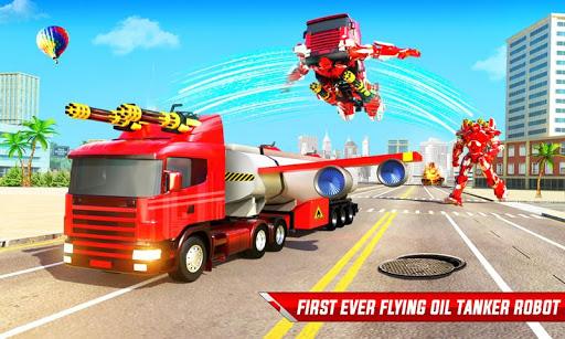 Flying Oil Tanker Robot Truck Transform Robot Game apklade screenshots 1
