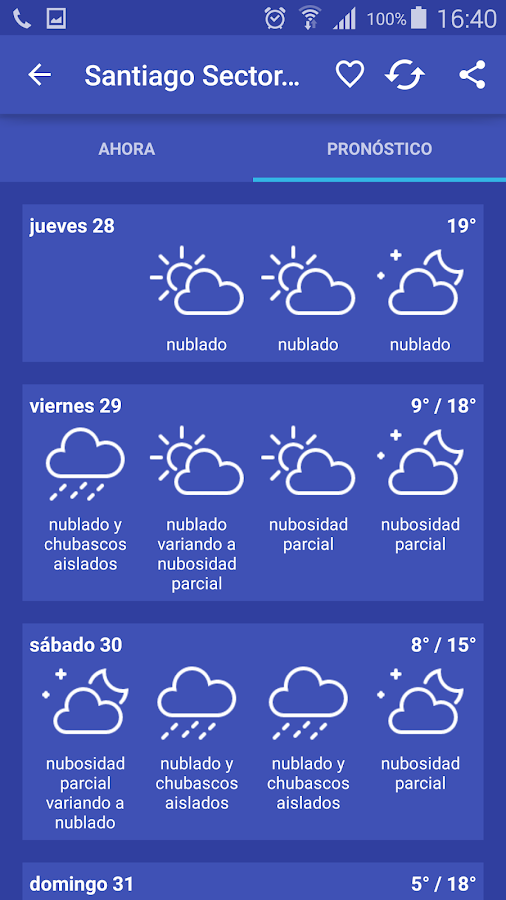 Meteorología Chile- screenshot