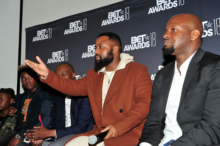 Distruction Boyz, Monde Twala, Cassper Nyovest and Alex Okosi.